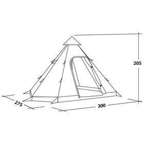Easy Camp Tipi Tribal Black & White tent zwart